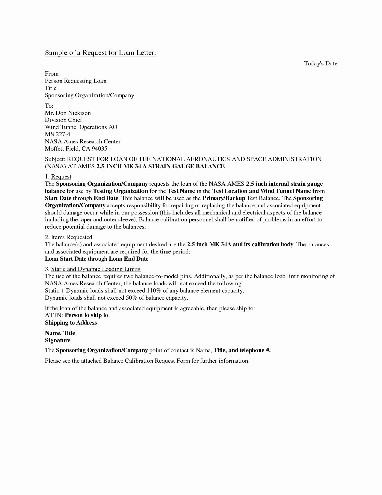 Personal Loan Proposal Template Unique
