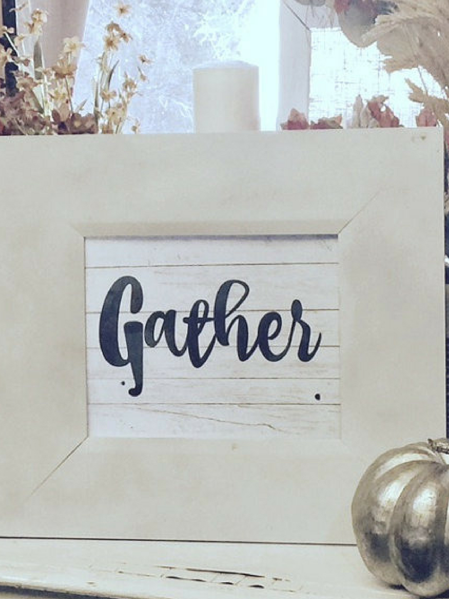 Printable Gather Sign With Shiplap Background Love It Fixerupper Farmhouse Rustic Ad