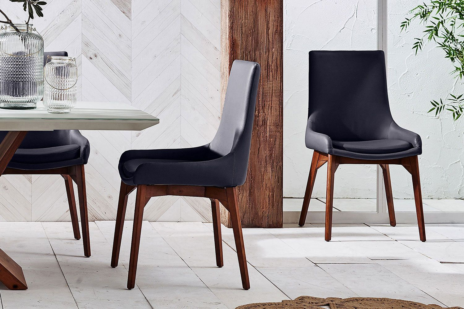 Bold And Modern With Strong Timber Legs The Moderna Dining Chair