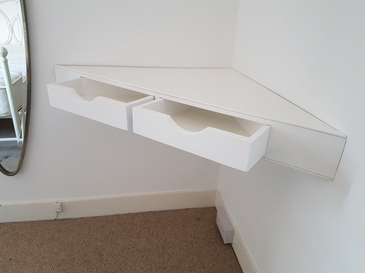 Floating Corner Shelf With Drawers Corner Shelf Design