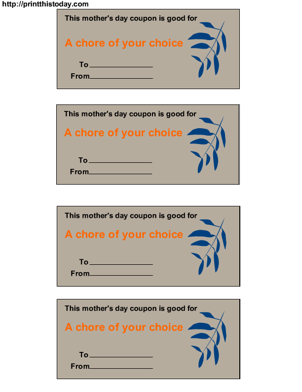 A Chore Of Your Choice  Printables    Free Printable