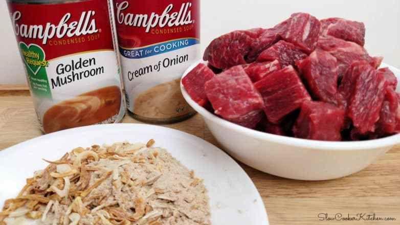 4 Ingredient Crock Pot Beef Tips And Gravy Slow Cooker Kitchen Recipe Beef Tips And Gravy Crock Pot Beef Tips Crockpot Beef