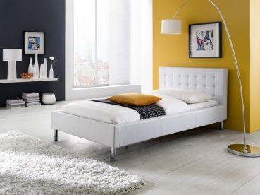 Polsterbett Lisa  #weiß #Möbel #Polsterbett #Bett #Schlafzimmer
