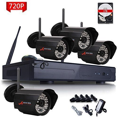 Anran 4ch Wifi 720p Nvr Wireless Ip Security Camera System With 4 Outdoor Indoor 720p Wireless Home Security Systems Security Camera System Ip Security Camera