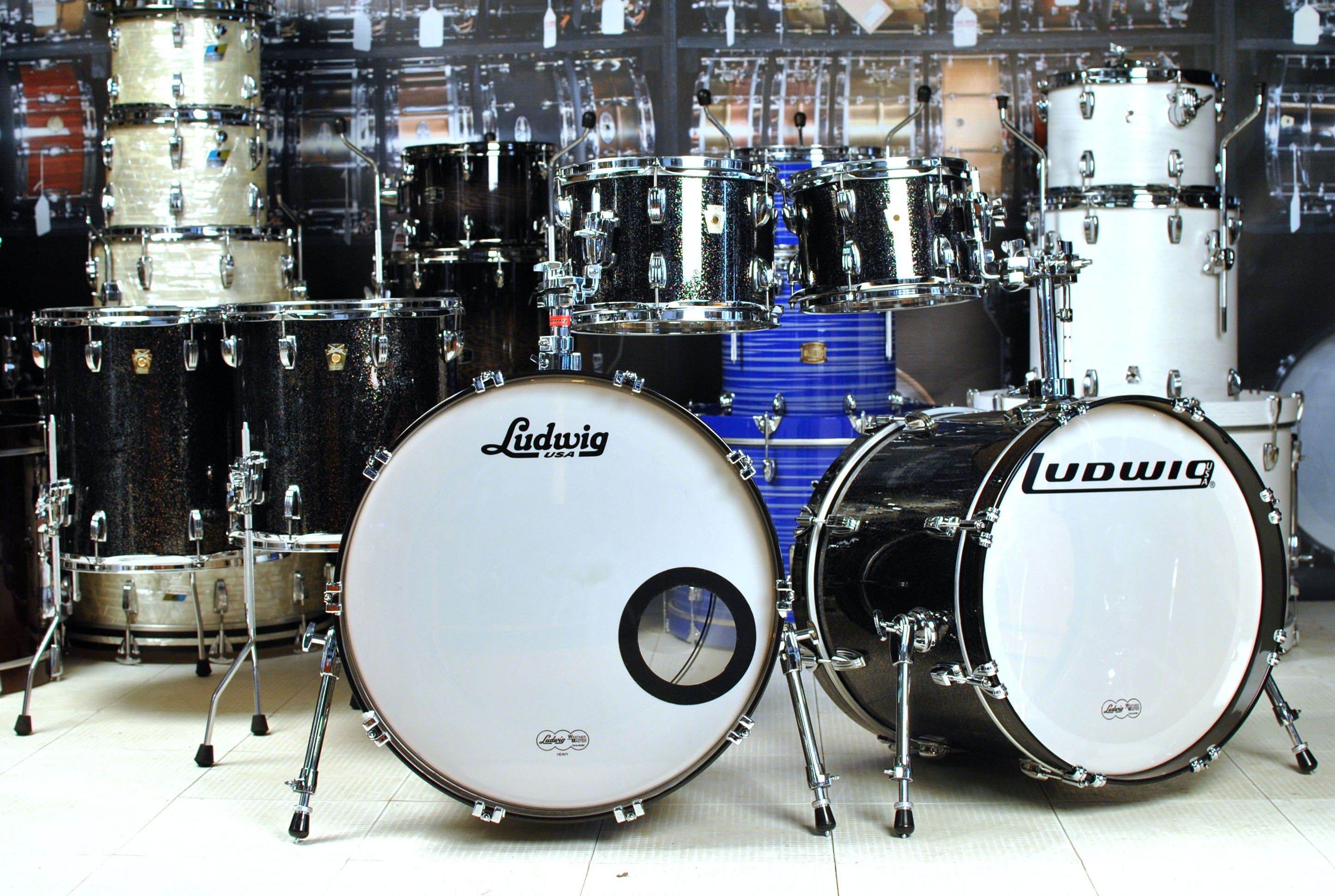 Used Ludwig Classic Maple Vinnie Kit With Extra Bass Drum Used Drum Sets Used Drum Center Of Portsmouth Drums Drum And Bass Used Drum Sets