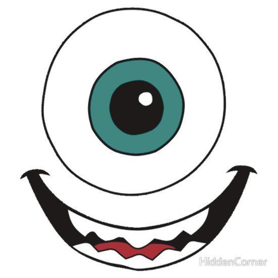 Mike Wazowski Sticker By Hiddencorner In 2021 Monster Inc Party Monster Inc Birthday Monsters Inc Baby