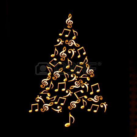 47117168-rbol-de-navidad-hecho-de-brillantes-notas-musicales-de-oro ...