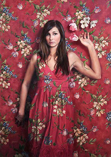 Ardith Starostka | Wallflower | oil on linen mounted on panel