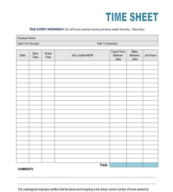 Simple Time Sheet Etsy In 2021 Time Sheet Printable Cleaning Checklist Printable Cleaning Checklist Printable Free