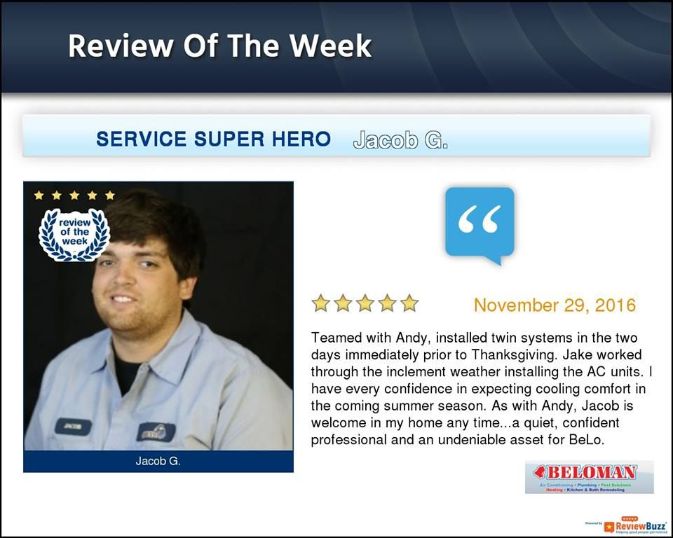 Check Out This Week S Review Of The Week Reviewbuzz Happycustomers Beloman Going To Work Belleville Heating And Cooling