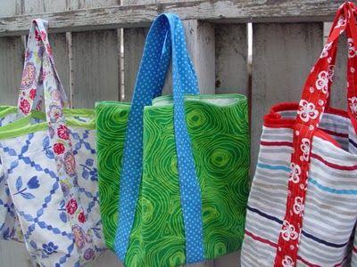 Pillowcase bags, how fun.