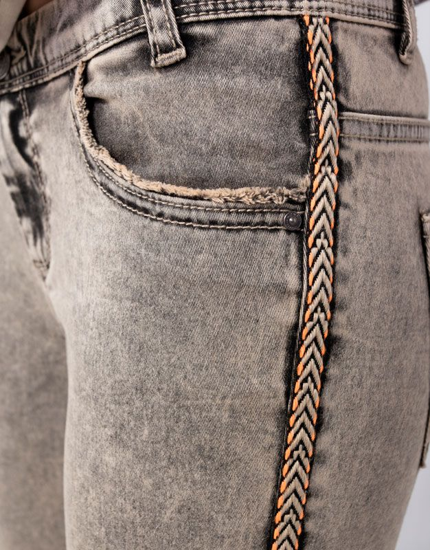 Chevron on slim jean - Pull and Bear