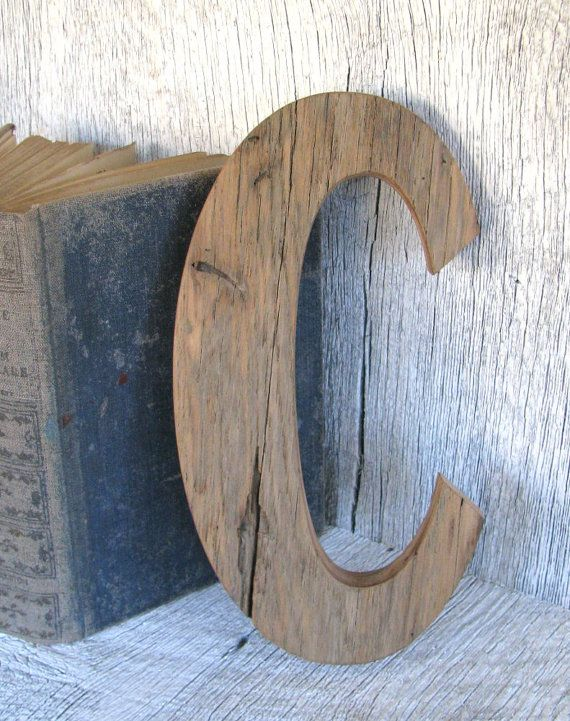 Barn Wood Letter C Nursery Wall Decor 12 By Secondnaturewoodwork