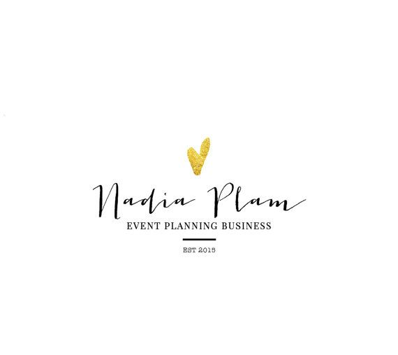 Premade Logo Template For A Wedding Planner Event Lifestyle Blogger Fashion Interior Designer Photographer