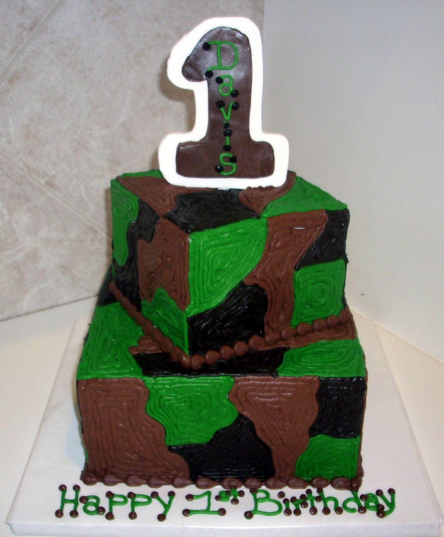 camo first birthday Cake Gallery Birthday Cakes