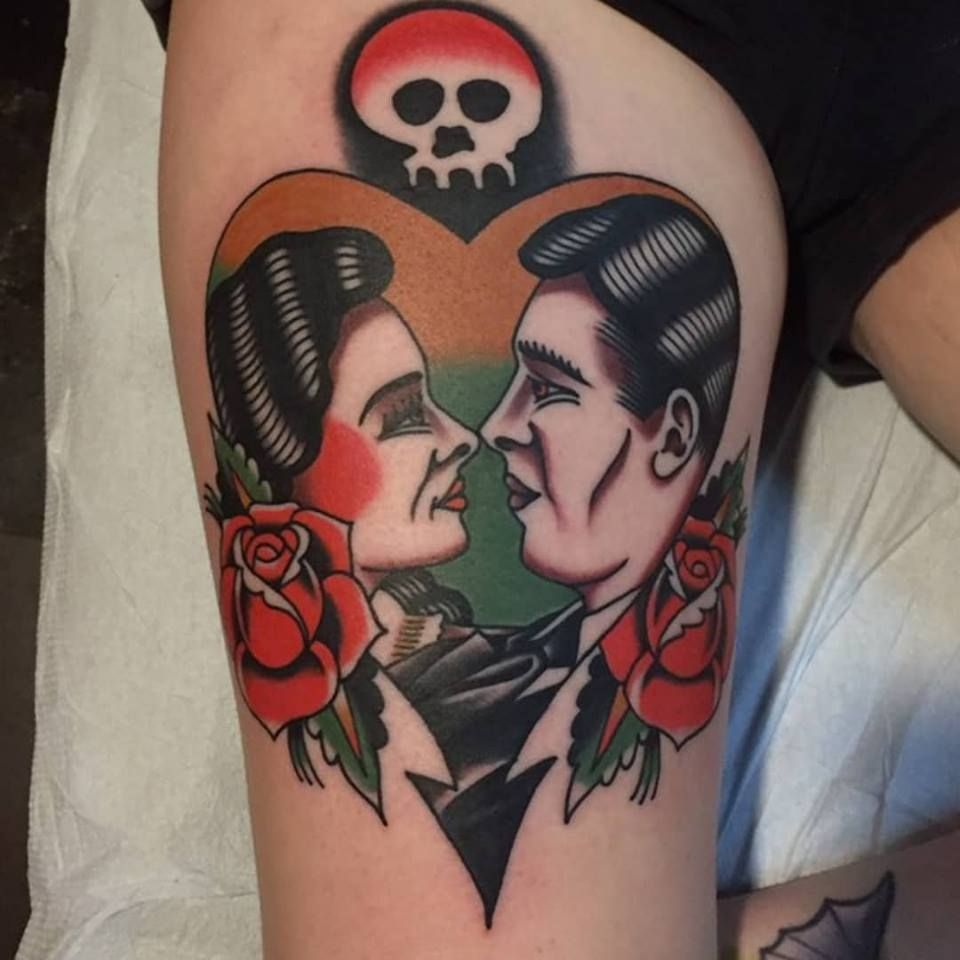 alkaline trio tattoo done