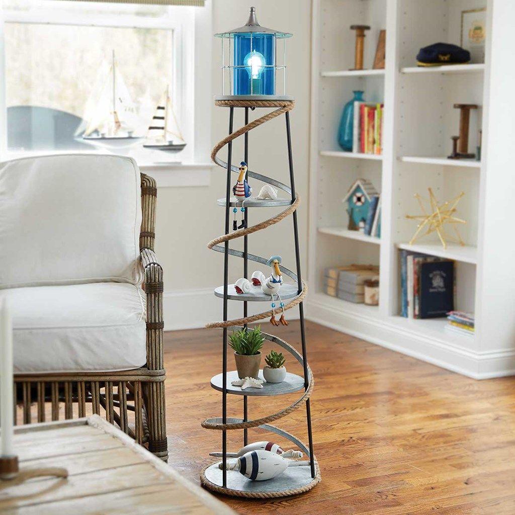 Metal Lighthouse Floor Lamp | Lake house remodeling ...