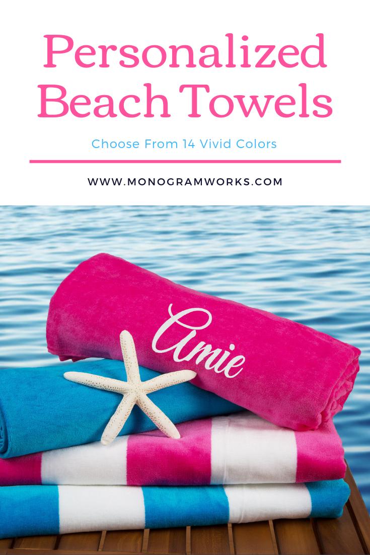Summer Paisley Beach Towel Monogrammed Monogrammed Beach Towels