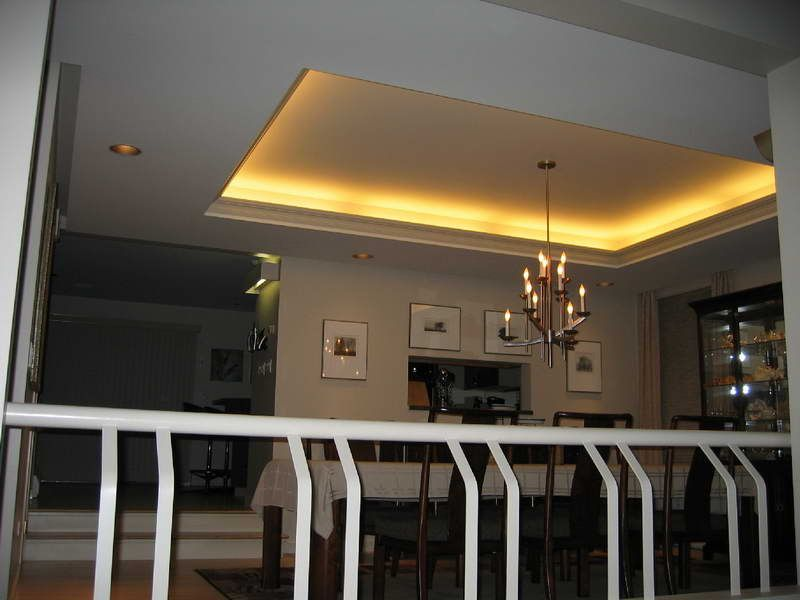 Create The Illusion Tray Ceilings In Room Tray Ceilings With Hanging Lamp Tray Ceiling Painted Ceiling Types Of Ceilings