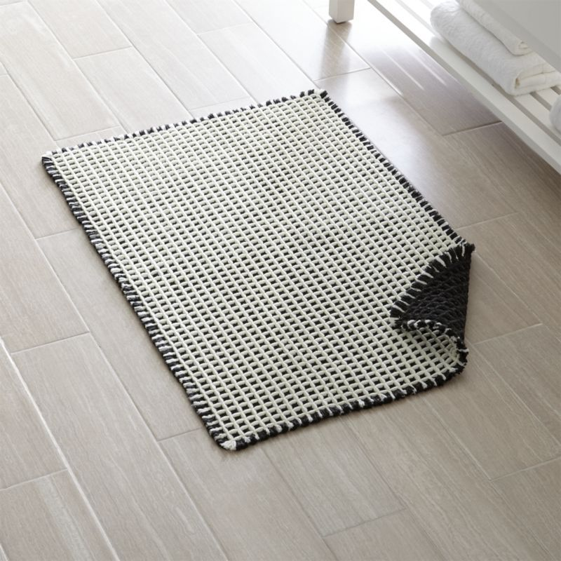 Shop Koya Waffle Fringe Bath Mat 2 X3 Our Koya Bath Rug Feels