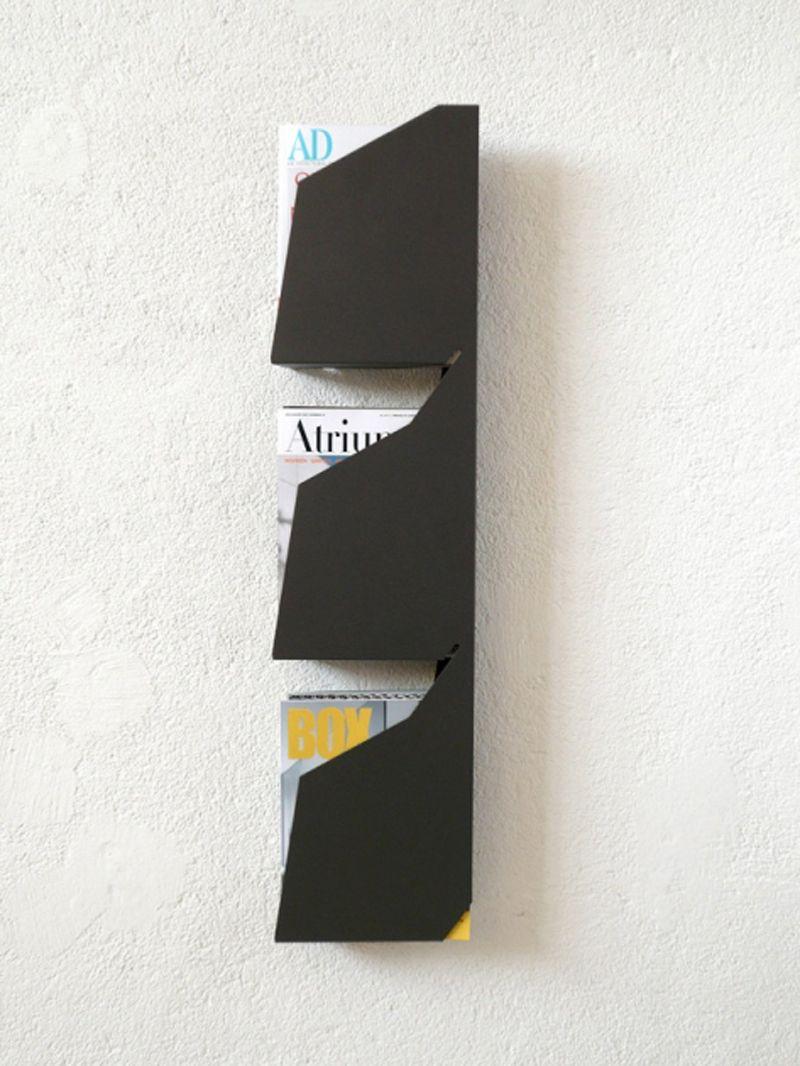 Contemporary Magazine Rack Living Room Decor Wall Racks Magazine Holders