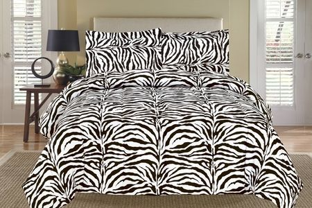 Zebra Black And White Down Alternative Comforter Set With Images