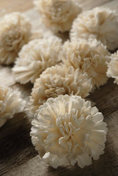 Sola Carnation Flower Ivory Set of 15 by CuriousFloralCrafts, DIY wedding, wedding bouquet, sola flowers $8.25