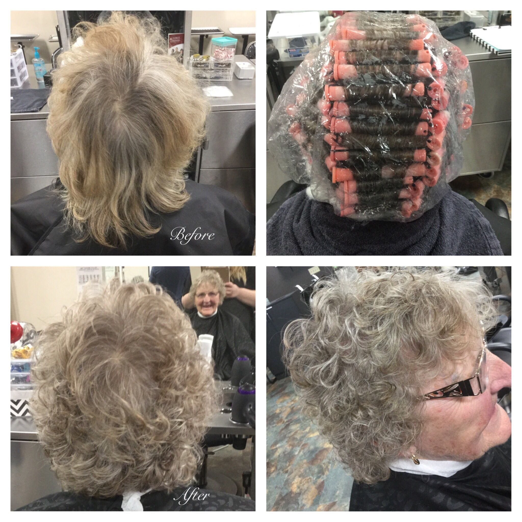 Straight perm solution - Basic Perm Wrap Using Pink Rods And Quantum Firm Options Solution 1 15