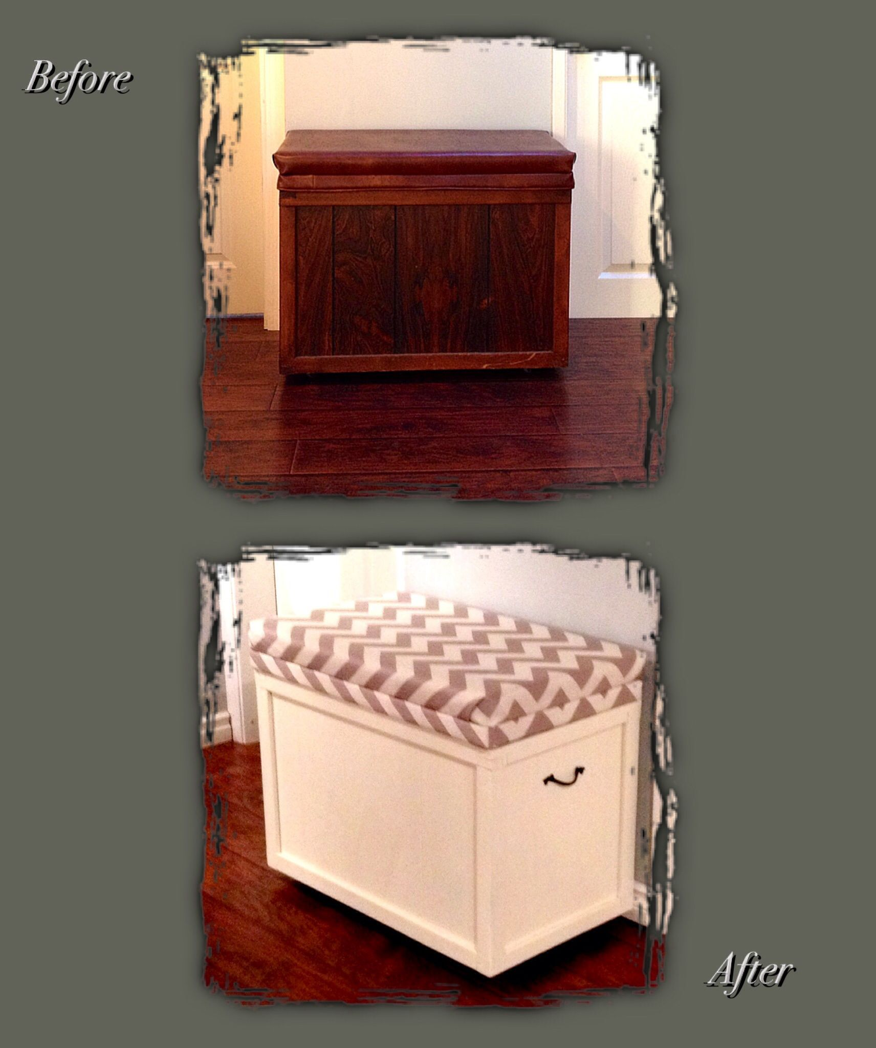 Strange Before After Old Firewood Storage Bench Painted And New Dailytribune Chair Design For Home Dailytribuneorg