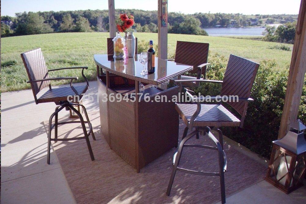 5pcs Outdoor Wicker Furniture Patio Chair Set,Outdoor Garden Chair ...