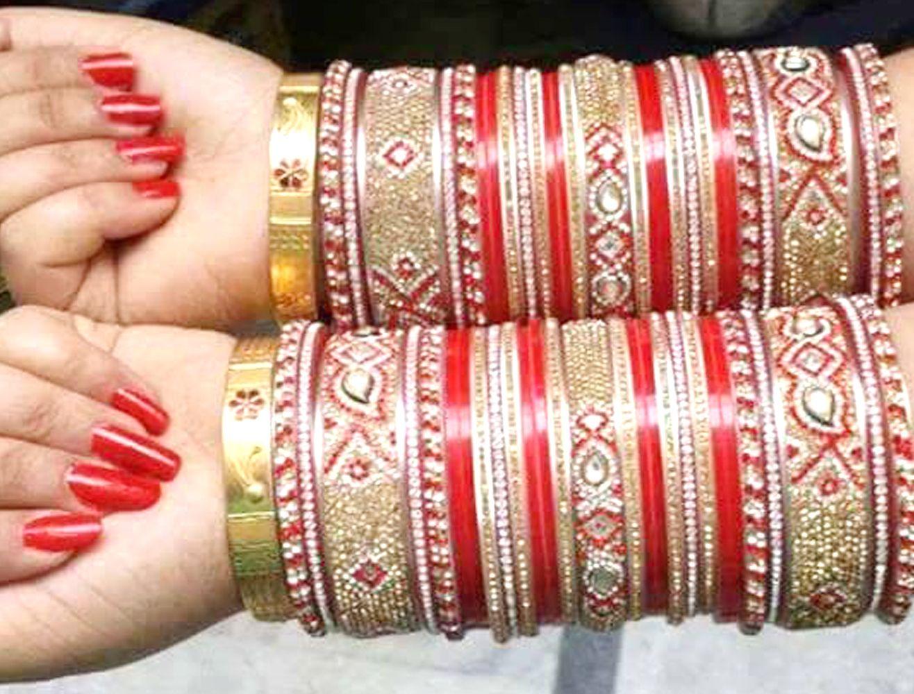 Designer Bridal Chura. Whatsapp For Purchase : +91 9416307694