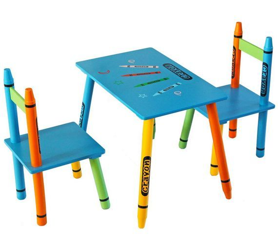 buy bebe style crayon table and chair set blue at argos co uk