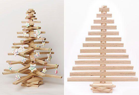 Déco de Noël : Sapin en bois et en volume à réaliser soi-même ...