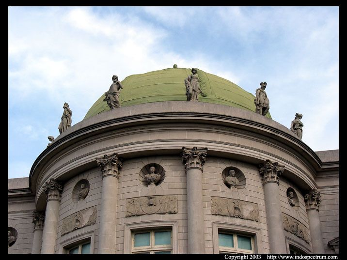 Rear view of the dome of the Palace of the Legion of Honor, San Francisco