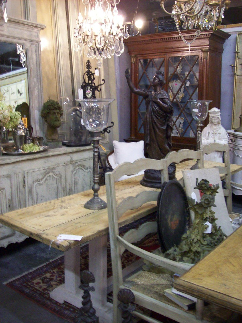 French Antique Furniture @ Antiques On Holiday In Destin, FL Bench Mirror  Sideboard White Painted