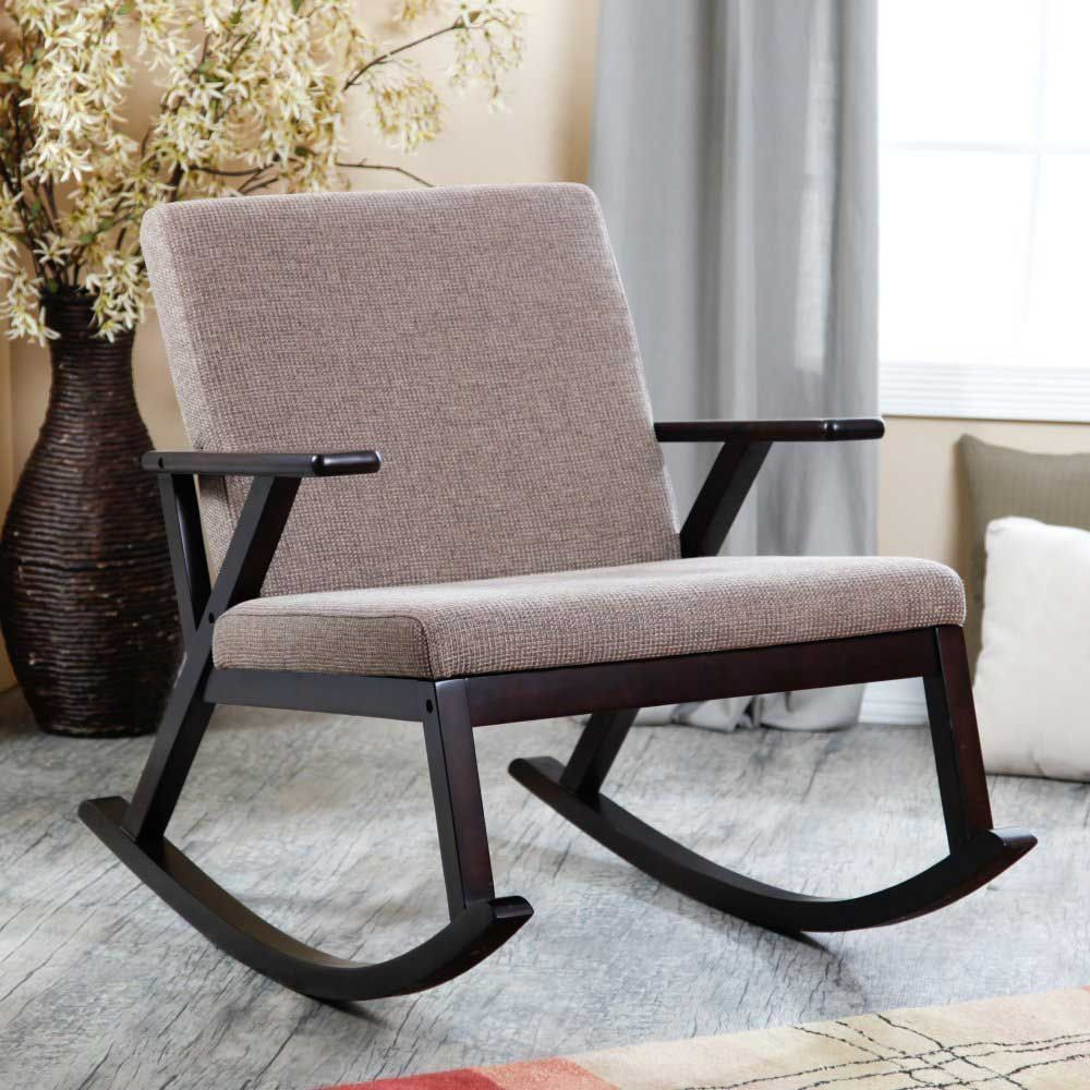 Brown Color Modern Nursery Rocker For Clic Furniture Interior Inside Chairs The Most Beautiful 2017 Proposals Decorating Your Living Room