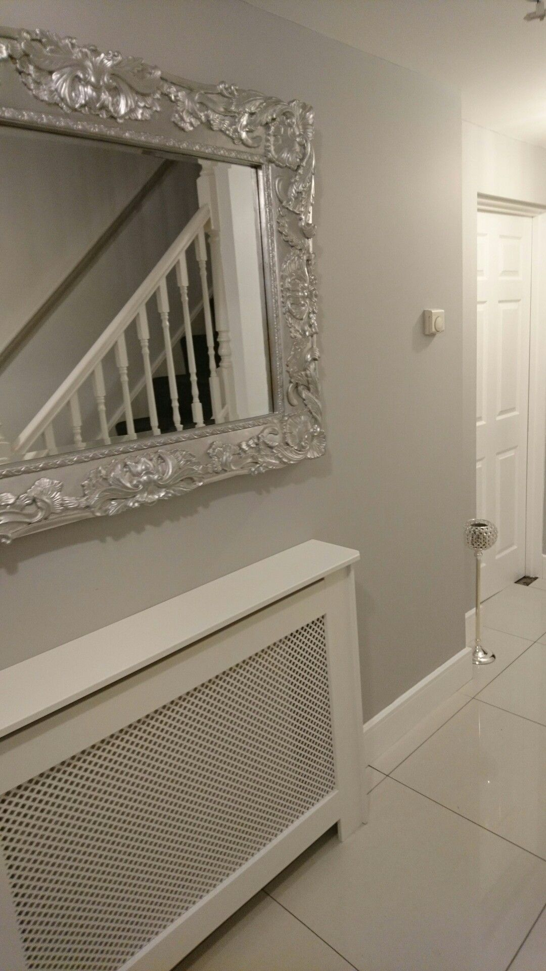 hallway paint ideas grey, Dulux chic shadow So light and airy Calm clean grey