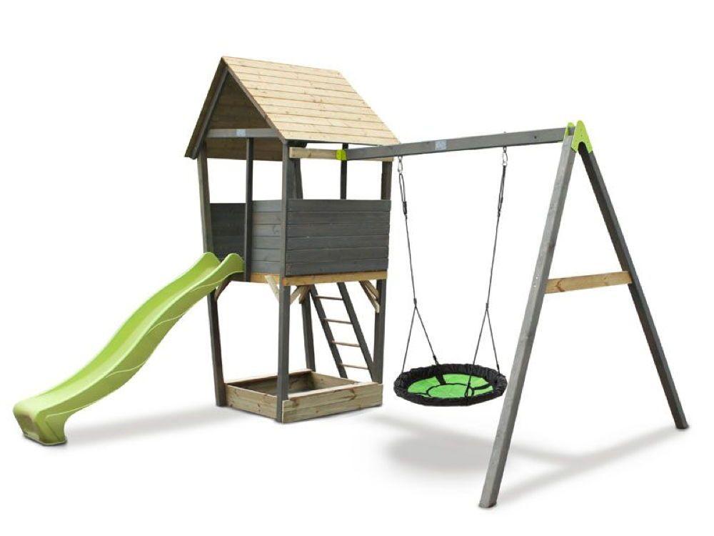Klettergerüst Mit Nestschaukel : Kinder spielturm exit «aksent nestschaukel mit rutsche