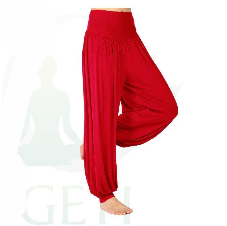 9556f674a5621 Women s Yoga Pants Loose Elastic Bloomers Dance Fitness Wide Leg Pants Long Harem  Trousers Plus Sizes S-XXXL 9 Colors Available