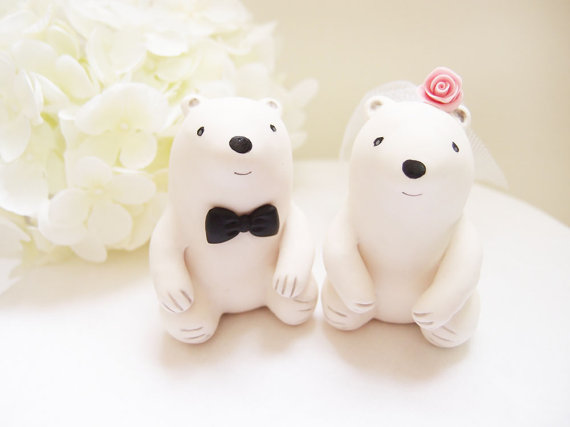 THIS IS PERFECTION FOR OUR WEDDING Custom Wedding Cake Toppers Cute Polar Bear
