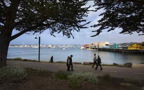 Thanks to the beautiful Coastal Recreation Trail, you can easily explore Monterey on foot, from Cannery Row to Fisherman's Wharf and the historic adobes and hot restaurants downtown. (Patrick Tehan/Bay Area News Group)