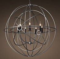 Foucault S Twin Orb Chandelier 41 With Images Orb Chandelier