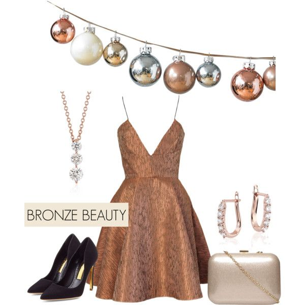 Bronze Beauty by Blue Nile on Polyvore featuring Joana Almagro, Rupert Sanderson, Dorothy Perkins, Blue Nile and DwellStudio