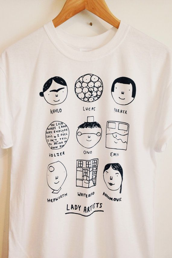 Lady Artists t shirt | Pinterest | Artist, Etsy and Screens