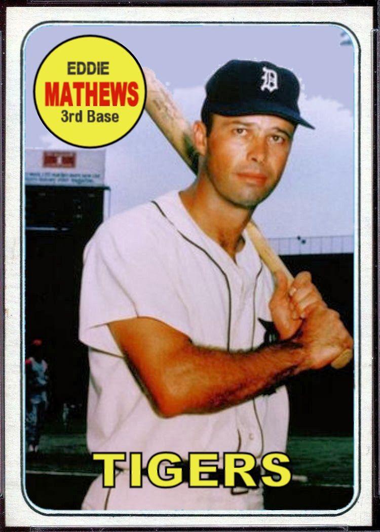 1969 Topps Eddie Mathews Card That Never Was Vintage