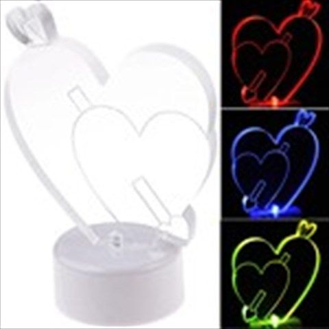 Heart shaped night lamp in neon colours - Love Symbol Colors Changing LED Night Light Lamp for Home Decoration