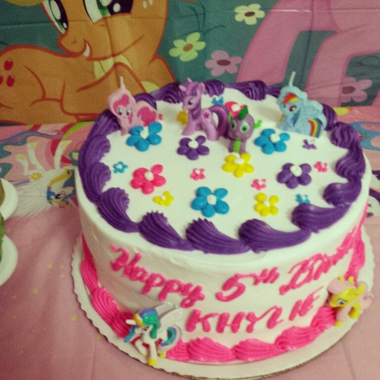 3 layered My little pony cake (red velvet, pistachio & chocolate) for my daughter's 5th birthday. #mylittlepony  By:Sheila Marie Matienzo