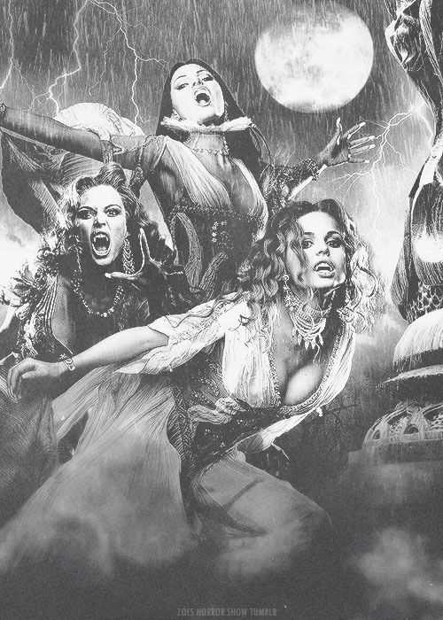 Rework of Dracual's brides publicity stills from Van Helsing. From Zoes-Horror-Show, via Scaramantica