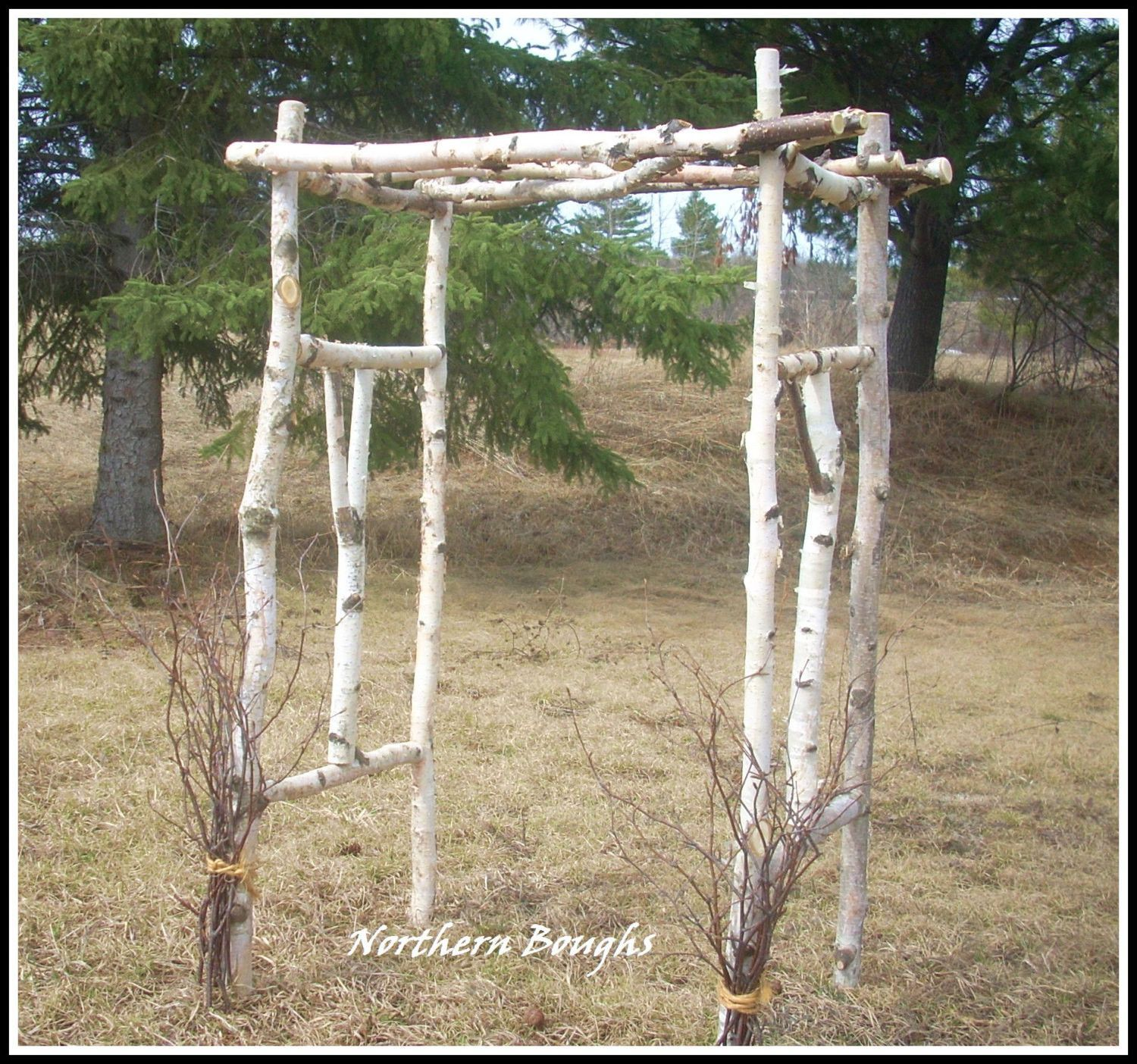 This Little Sweetie Birch Wood Wedding Arch Kit Is Perfect For Photographs Of The