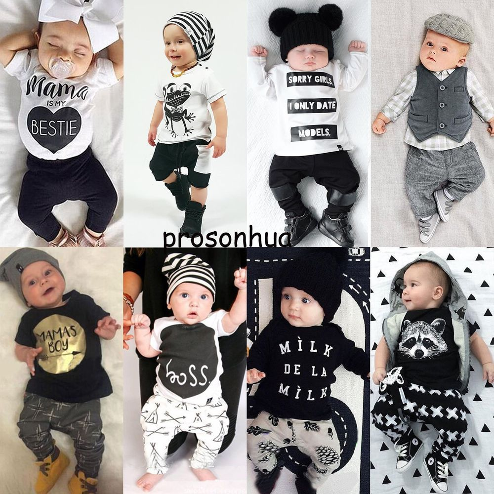acbcaa6c4 2pcs Newborn Toddler Infant Baby Boy Girl Clothes T-shirt Tops+Pants  Outfits Set | Clothing, Shoes & Accessories, Baby & Toddler Clothing, Boys'  Clothing ...